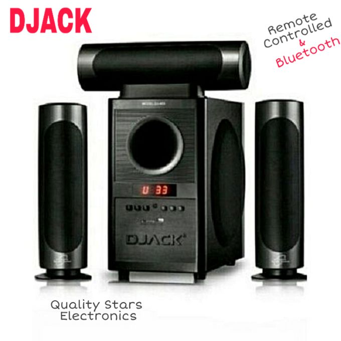 Home Theater Speaker System Black Bluetooth Sound Stereo With Remote Control